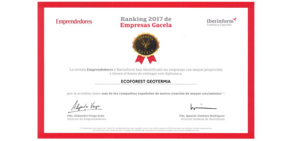 Ecoforest premio empresas Gacela 2017