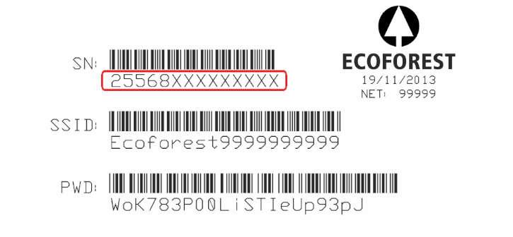 etiqueta numero cpu estufa